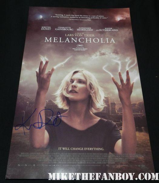 kirsten dunst signed autograph melancholia promo movie poster promo mini hot sexy rare