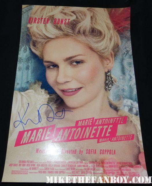 kirsten dunst signed autograph marie antoinette promo movie poster promo mini hot sexy rare