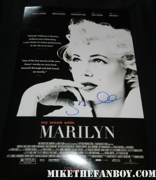 michele williams signed autograph my week with marilyn rare promo mini movie poster hot sexy rare