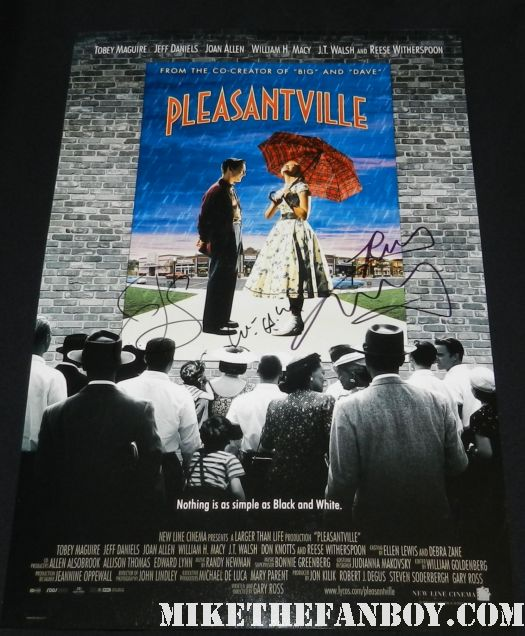 william h macy jeff daniels reese witherspoon signed autograph pleasantvilly promo mini movie poster