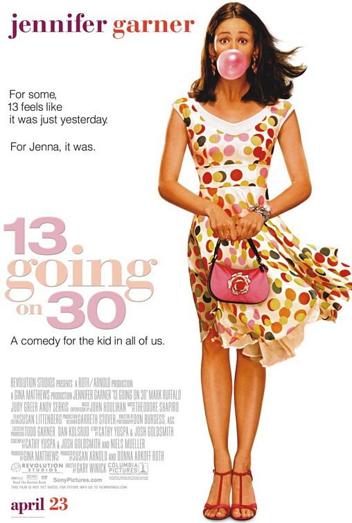 thirteen_going_on_thirty 13 going on 30 rare promo one sheet movie poster promo jenna rink