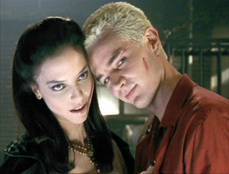 juliet landau as drusilla from buffy the vampire slayer the hot and sexy vampire lover rare promo female vampire btvs james marsters as spike rare promo press still
