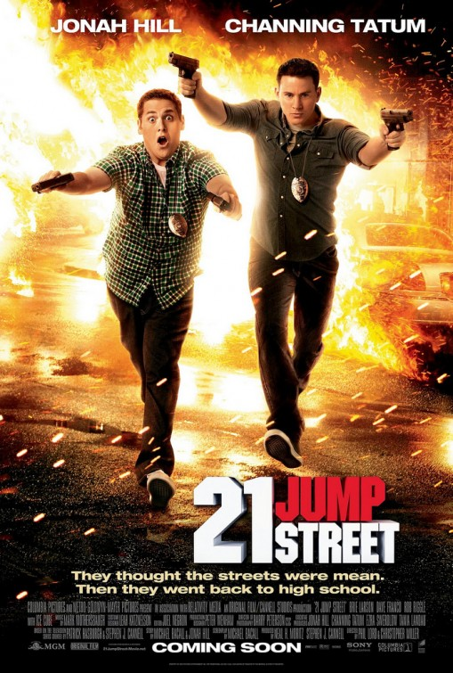 twenty_one_jump_street_ver3 21 jumpstreet rare one sheet movie poster channing tatum jonah hill rare hot sexy one sheet movie poster promo