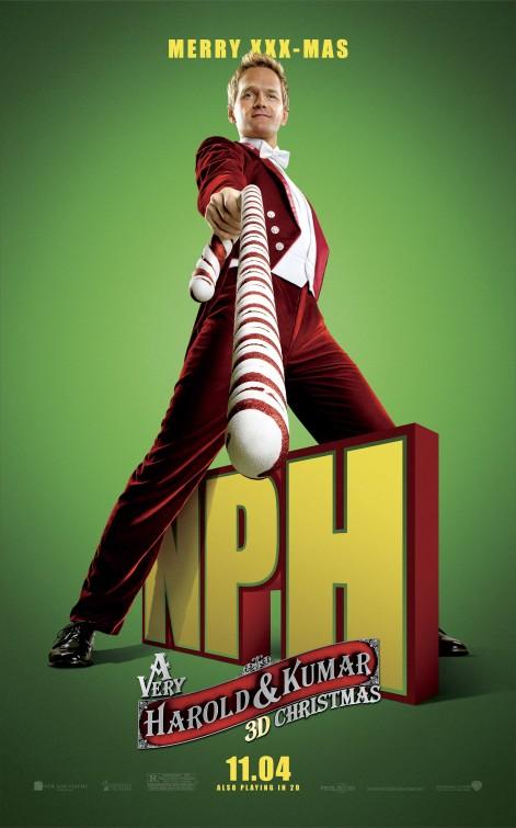 very_harold_and_kumar_christmas_ver4 neil patrick harris rare promo individual promo poster big stick rare hot sexy