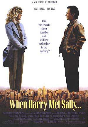 when_harry_met_sally rare promo one sheet movie poster promo hot meg ryan billy crystal poster