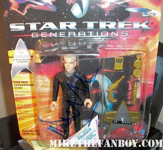 malcolm mcdowell signed autograph dr. Soran star trek generations action figure rare promo hot dancer rare awesome signing autographs rare promo