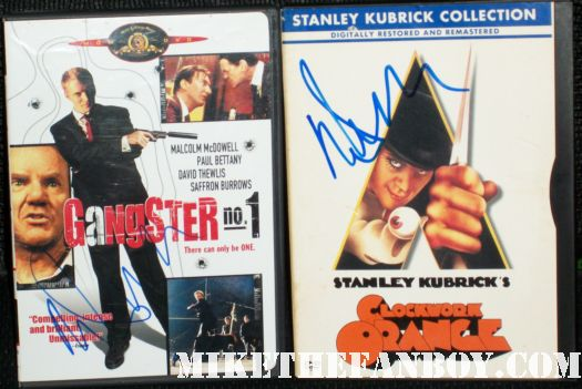 Malcolm mcdowell signed autograph a clockwork orange gangster #1 rare dvd cover rare promo hot sexy signing autographs rare kubrick