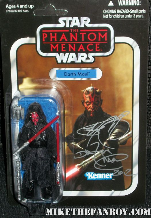 Star Wars Legend Ray Park  darth maul signed autograph action figure at wondercon 2012 rare promo hand signed autograph rare