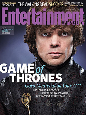 entertainment weekly magazine game of thrones magazine cover Peter Dinklage hot sexy photo shoot rare promo