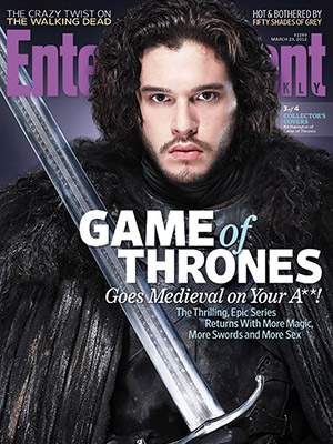 entertainment weekly magazine game of thrones magazine cover Kit Harington hot sexy photo shoot rare promo