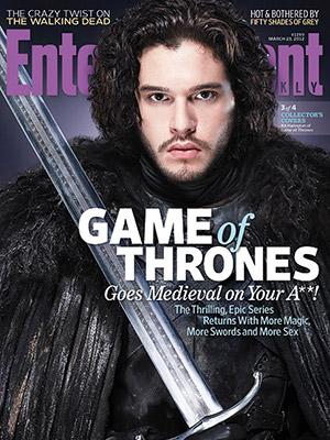 entertainment weekly magazine game of thrones magazine cover Kit Harington hot sexy photo shoot rare promo