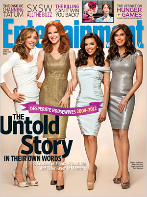 desperate housewives entertainment weekly magazine cover rare marcia cross eva longoria teri hatcher felicity huffman rare promo kiss them goodbye