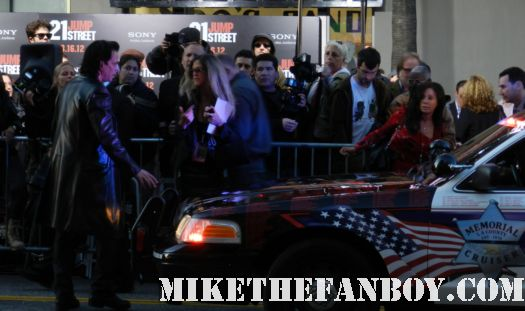 richard grieco arriving in a police car at the 21 jumpstreet world movie premiere 21 Jumpstreet World Movie Premiere! Channing Tatum! Jonah Hill! Ellie Kemper And We All Walk Away With Nothing! NOTHING! Debacle! Sigh...