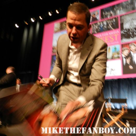 jon cryer holland taylor and Conchata Ferrell  from pretty in pink signing autographs for fans at the paleyfest 2012 two and a half men panel rare
