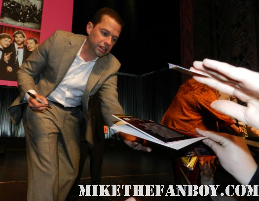 jon cryer from pretty in pink signing autographs for fans at the paleyfest 2012 two and a half men panel rare