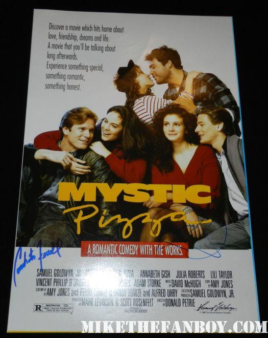 Conchata Ferrell julia roberts signed autograph mystic pizza rare promo mini movie poster promo