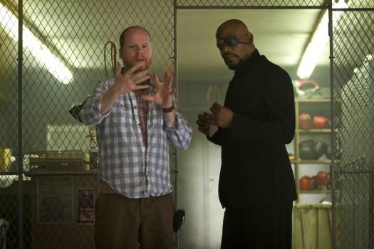 joss whedon directing samuel l jackson on the set of the avengers rare promo behind the scenes rare promo press still walt disne