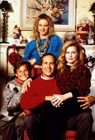 national lampoon's christmas vacation cast photo with beverly d'angelo chevy chase press still rare juliette lewis johnny galecki