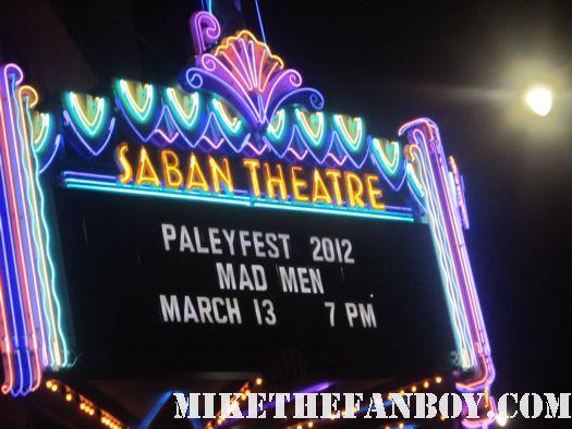 Mad men saban theatre paleyfest marquee 2012 paley fest rare promo jon hamm neon sign rare promo