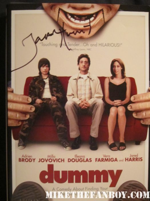 jared harris signed autograph dummy dvd cover rare promo hot adrien brody mad men paleyfest 2012