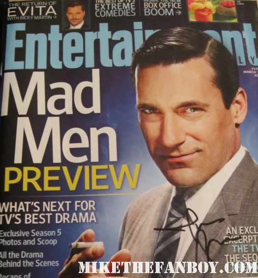 jon hamm signed autograph entertainment weekly march 2012 mad men magazine cover signed autograph rare promo hot sexy don draper