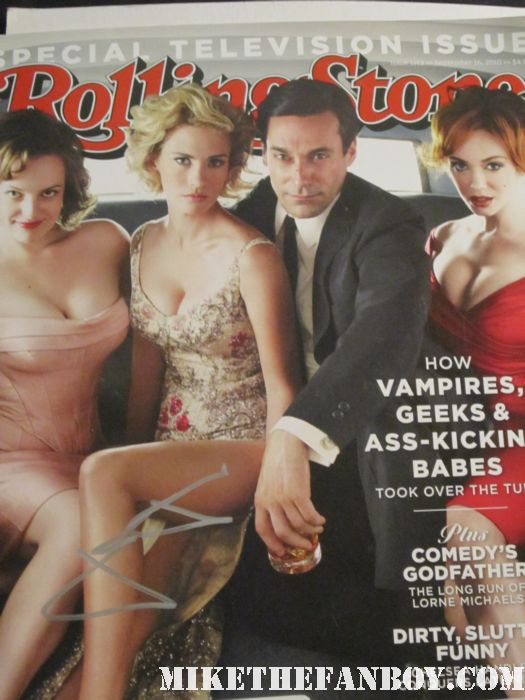 mad men rolling stone magazine cover january jones jon hamm signed autograph elizabeth moss christina hendricks