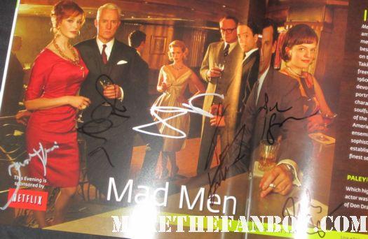 mad men cast signed autograph season 4 rare dvd cover jon hamm jared harris january jones hot sexy matthew wiener paleyfest program