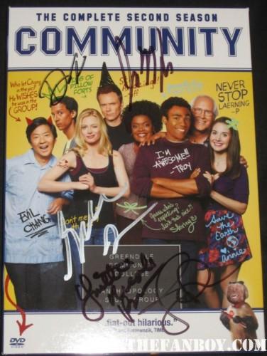 community signed autograph season 2 dvd set joel mchale chevy chase alison brie hot rare promo NBC paleyfest