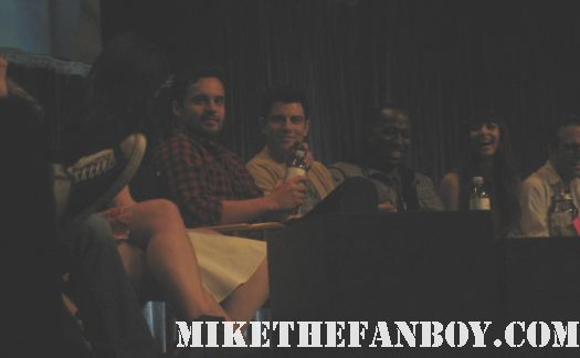 jake johnson max greenfield paleyfest panel q and a with zooey deschanel rare promo hot rare
