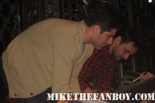 Max Greenfield and Jake Johnson signing autographs for fans at the new girl paleyfest panel hot sexy deputy leo