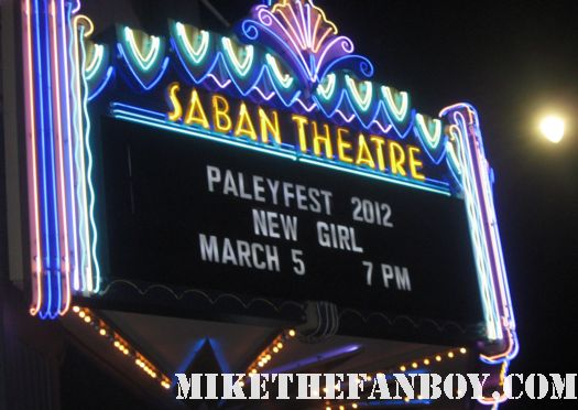 paleyfest 2012 saban theatre marquee at the new girl panel march 5th rare neon sign zooey deschanel