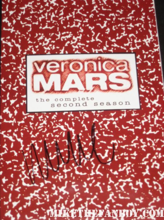 max greenfield signed autograph veronica mars season 2 dvd insert rare promo kristen bell rare