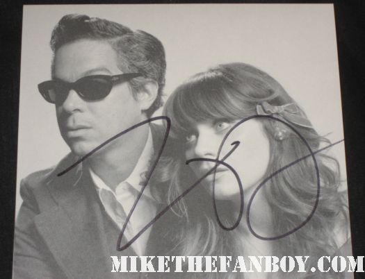 zooey deschanel signed autograph she and him rare promo cd booklet paleyfest new girl rare 2012