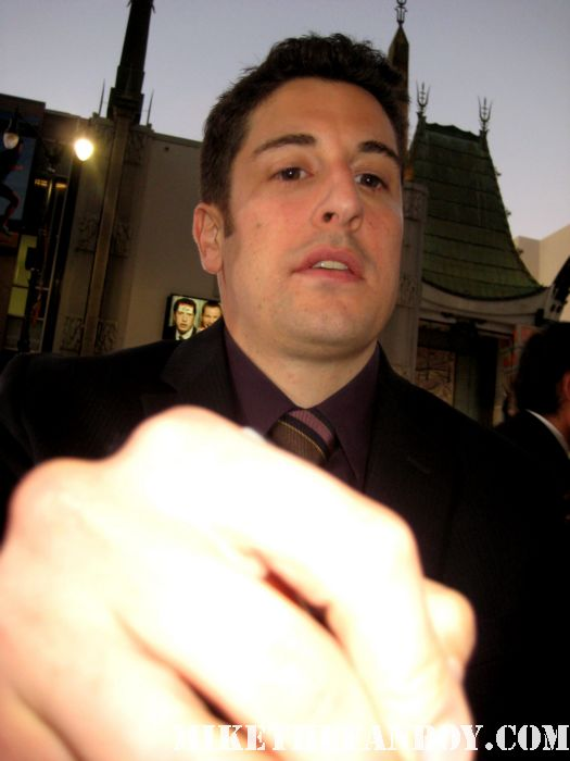 jason biggs and eddie kaye thomas signing autographs for fans at the american reunion premiere red carpet promo with seann william scott eugene levy alyson hannigan jason biggs