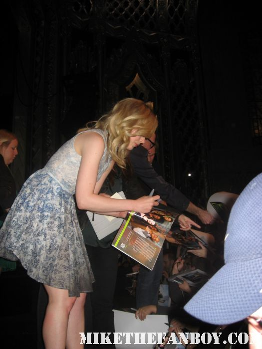 Jacobs, Rash and McHale signing autographs for fans rare promo community cast signed paleyfest 2012 rare
