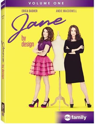 Jane-By-Design-DVD rare promo cover art with andie MacDowell and Erica Dasher in a promo press still for Jane by design on abc family rare promo press still hot rare MEAGAN TANDY, MATTHEW ATKINSON, DAVID CLAYTON ROGERS, NICK ROUX, ERICA DASHER, ANDIE MACDOWELL, ROWLY DENNIS, INDIA DE BEAUFORT
