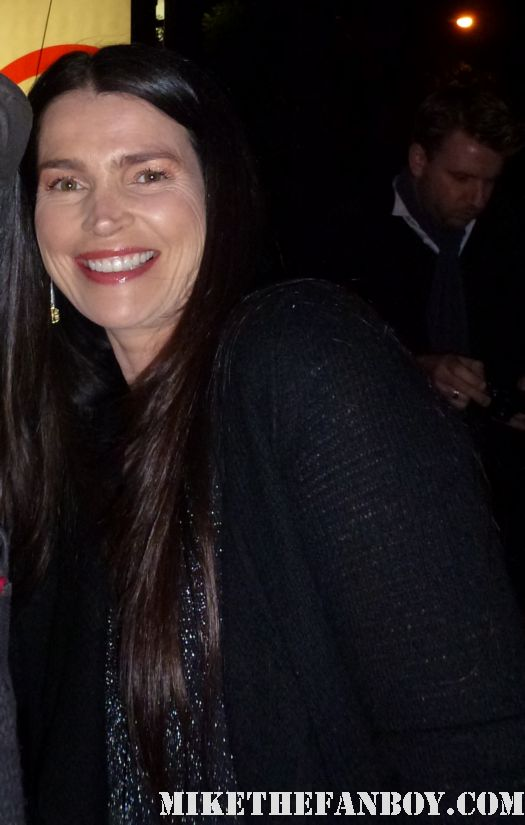 Julia Ormond signing autographs for fans at the indie spirit awards and posing for fan photos