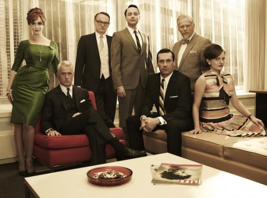 mad men season 5 rare cast photo photo press still christina hendricks jon hamm john slattery jared harris elizabeth moss