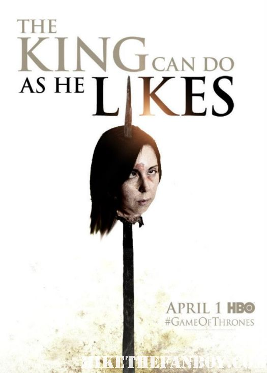 game of thrones head on a spike photo from wondercon 2012 the novel strumpet from mike the fanboy rare