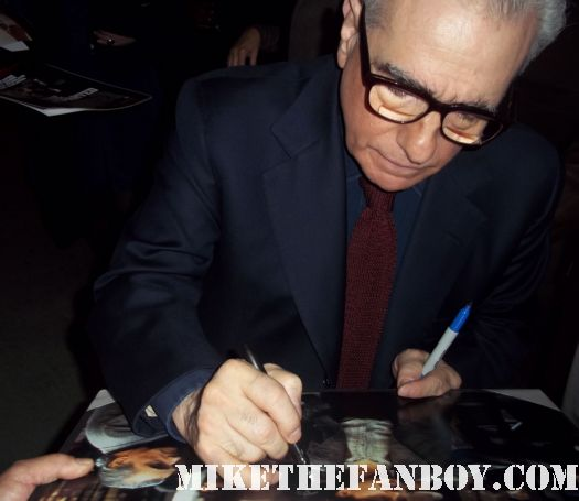 martin scorsese signs autographs for fans after taping a talk show rare autograph casino rare promo shutter island rare hot legendary director