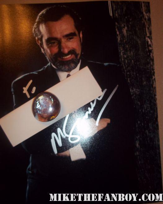 martin scorsese signs autographs for fans after taping a talk show rare autograph casino rare promo shutter island rare hot legendary director photo rare promo