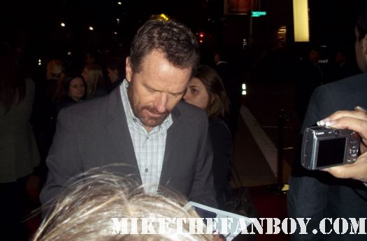 bryan cranston signing autographs for fans at John Carter Movie Premiere Report! Taylor Kitsch! Willem Dafoe! Bryan Cranston! Autographs! Photos! And More! The CB Returns!