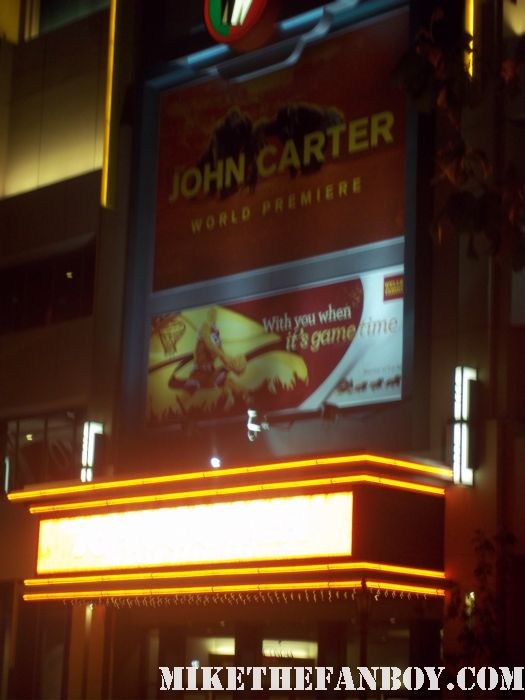 the red carpet at the  John Carter Movie Premiere Report! Taylor Kitsch! Willem Dafoe! Bryan Cranston! Autographs! Photos! And More! The CB Returns!