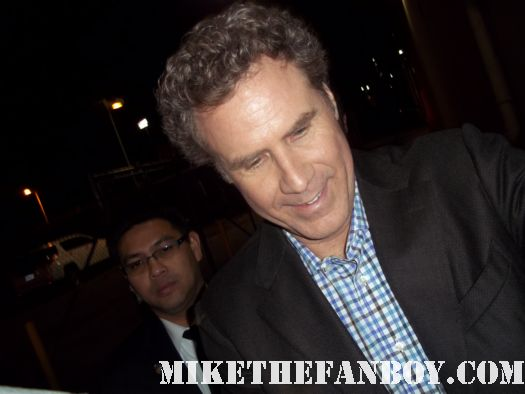 will ferrell signing autographs for fans at a movie premiere rare promo hot semi pro anchorman talladega nights signed autograph rare
