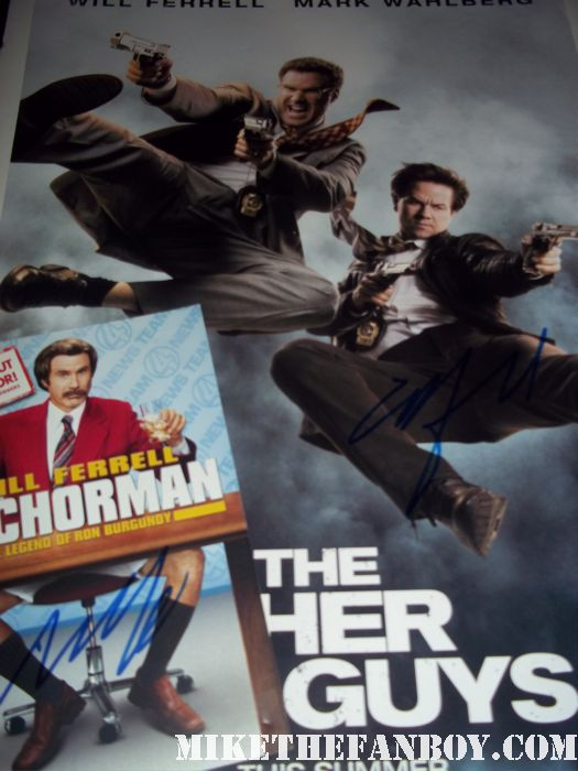 will ferrell signed autograph the other guys mini poster promo anchorman dvd case ted burgundy rare blades of glory hot rare