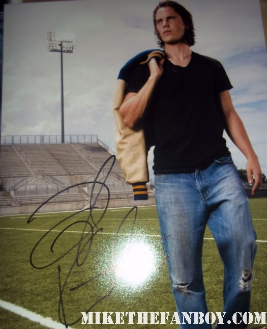 taylor kitsch signed autograph friday night lights rare promo photo hot sexy riggens riggons muscle shirtless