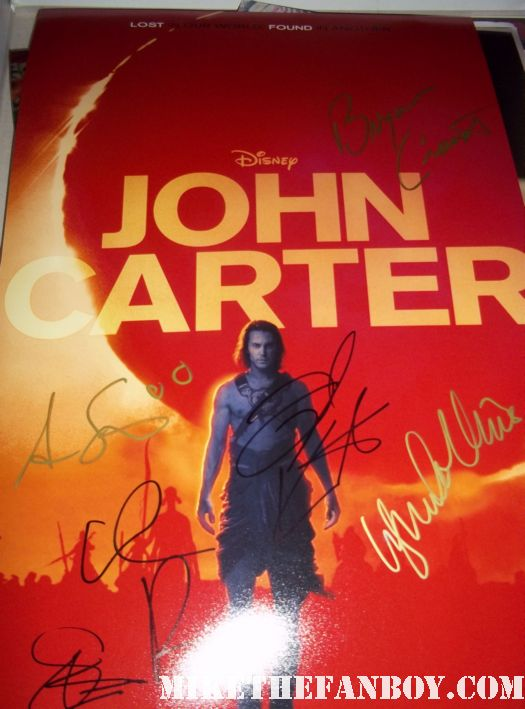 taylor kitsch signed autograph john carter from mars rare promo mini poster taylor kitsch shirtless hot sexy signed rare muscle abs