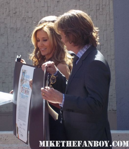 william h macy and felicity huffman walk of fame star ceremony report autographs signing rare promo