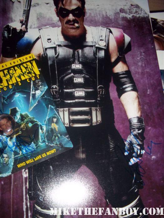 jeffrey dean morgan signed autograph watchmen promo photo poster promo dvd sleeve the comedian