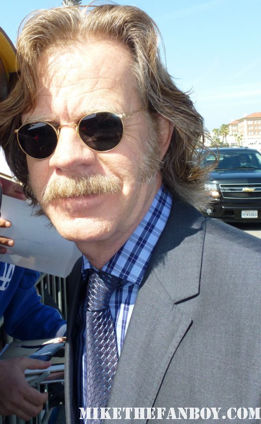 William H. Macy  signing autographs for fans at the indie spirit awards and posing for fan photos